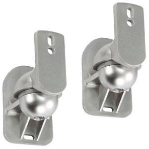 2x Lautsprecher Wandhalterung A25 Silber für JBL CONTROL ONE Boxen Halterung