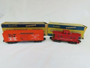 2 A.F. CARS #984 NEW HAVEN BOX & #904 AF LINE CABOOSE BOTH ARE EX W/BOXES