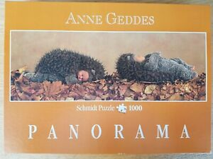 1000 Piece Jigsaw Puzzle Anne Geddes 57943 'Hedgehogs' Panoramic