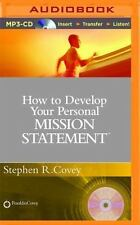 How to Develop Your Personal Mission Statement by Stephen R. Covey (2015, MP3...