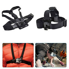 Adjustable Head Strap+Chest Strap Mount Accessories For GoPro Hero 1 2 3 Camera