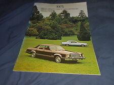 1975 Mercury Monarch, Monarch Ghia, Montego and Color Brochure Catalog Prospekt