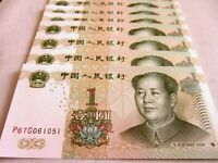 China Money 10 PCS Set One Yuan Each Paper Money Currency