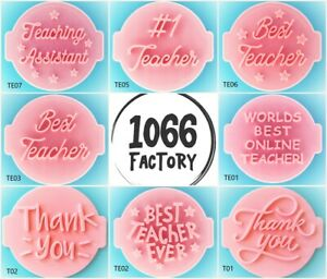 Teacher Father Love Thank You Embosser Stamp for Fondant Cupcake Icing Cookie
