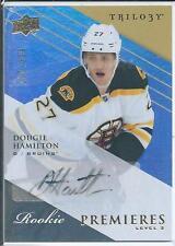 Dougie Hamilton  13/14 UD Trilogy  #138   RC / Autograph  Level 2  SP RC  /399
