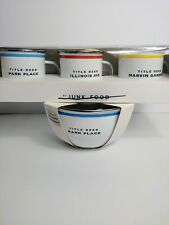 Monopoly Mugs And Bowls Enamelware By Junk Food New Hasbro