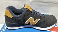 New Balance Men's 574 Shoes. Black/Wheat Size 10
