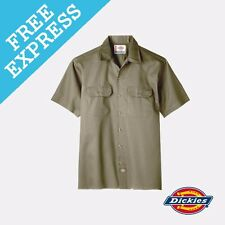 Dickies Short Sleeve Work Shirt M Khaki
