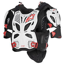 Alpinestars A10 Brustpanzer Full Chest Weiß Schwarz Rot XS S - Roost Guard
