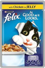 Felix As Good As It Looks Cat Pouches Chicken in Jelly, 20 x 100 g