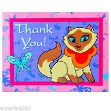 SAGWA the CHINESE SIAMESE CAT THANK YOU NOTES (8) ~ Birthday Party Supplies Card