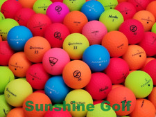 24 AAA Assorted Color Matte Mix Used Golf Balls (3A) - FREE SHIPPING