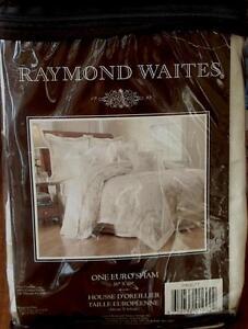 Raymond Waites Spring Garland Euro Sham - Cotton Sateen - BRAND NEW IN PACKAGE