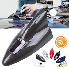 Gray Solar Car Shark Fin dummy Antenna LED 8 Warning Flash Tail Light Shell