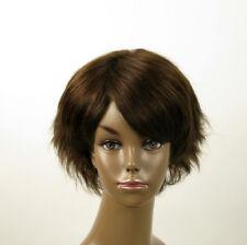 Perruque afro femme 100% cheveux naturel châtain ref SHARONA 05/6