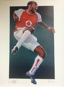 BIG Thierry Henry Signed Arsenal Ltd Ed Unbeaten 70x49.5cm Legend Print 50/500