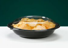 32oz Plastic Disposable Salad Bowl With Lid (Case of 25)