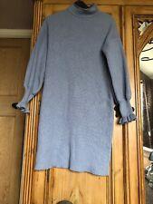 Blue Wool Size 10 Thick Warm Jumper Dress