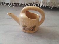 arrosoir carafe à pastis ceramique décor la partie de pétanque en bord de mer