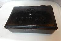 Vintage St johns Ambulance first aid kit in black plastic case 20cmx13cm content