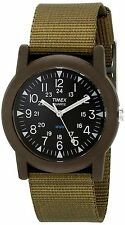 """Timex T41711, Mid-Size """"Expedition Camper"""" Green Nylon Watch, T417119J"""