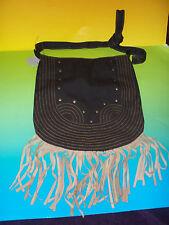 World Market Nomad Brown Fringe Handbag  Shoulder Strap NWT