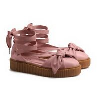 "PUMA Womens ""FENTY-RIHANNA"" CREEPER BOW SANDALS Pink Size 9"