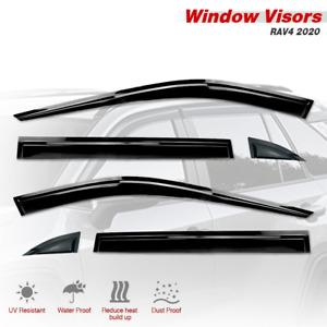 2020-2021 RAV4 Black Window Vent Visors Sun Rain Guard 6 pieces