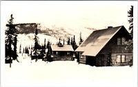 RPPC McKINLEY NATIONAL PARK, AK Alaska    PARK HEADQUARTERS   c1940s  Postcard