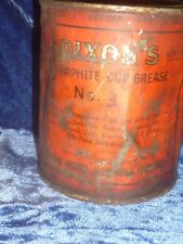 Vintage Dixon #3 Graphite Grease 1Lb Tin Can Partially Full