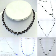 Crystal Choker Beauty Oval Costume Necklaces & Pendants