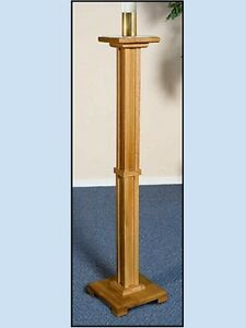 Pecan Stain Paschal Candle Stand Maple Hard Wood