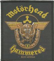 MOTORHEAD hammered 2010 - WOVEN SEW ON PATCH - official - no longer made LEMMY