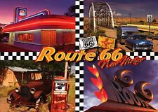 Route 66, New Mexico NM, Oldtimer Cars, Diner, Main Road USA --- Modern Postcard
