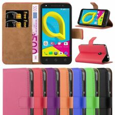 Alcatel U5 3G Phone Case Luxury Magnetic Wallet Flip Cover Card Holder StandView