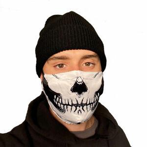 Skull Face Mask Washable Reusable Biker Motorcycle Halloween US Seller Fast Ship