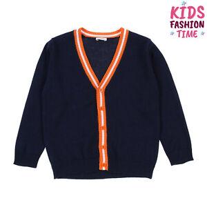 IL GUFO Cardigan Size 8Y Thin Knit Button Front Y-Neck