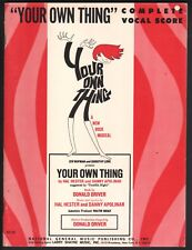 Your Own Thing Vocal Score 1968 Sheet Music