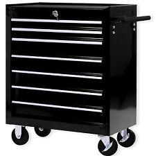 Masko® Chariot d'atelier à outils servante caisse 7 tiroirs à roulettes  ✓ noir