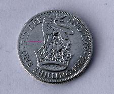 1933 Re Giorgio V argento inglese britannico SHILLING 50% di contenuto d'argento 1/- Bob