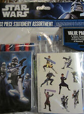 Star Wars 32 Piece Set Stationery Assortment Pens Tattoo Markers New great Gift