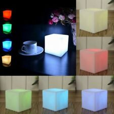 7 Color LED Changing Mood Cubes Night Glow Lamp Home Decor Romantic Lighting
