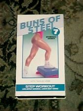 BUNS OF STEEL 7 STEP WORKOUT VHS 1993 LOW IMPACT AEROBICS LOWER BODY TONING