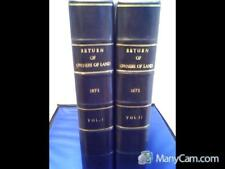RETURN OF OWNERS OF LAND 1873, TWO VOLS. ~ LEATHER BOUND.