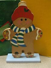 Wooden Snowman Christmas Ornament Free Shipping BOX #A-25 ITEM #2793