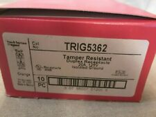LOT OF 10 Pass Seymour TRIG5362 Duplex Isolated Ground 20A Receptacle ORANGE