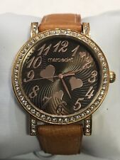 NEW MARC ECKO E95055L1 38mm Rose Gold Case Tan Leather Ladies Watch #30