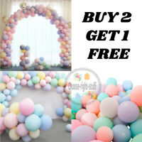 10-100 10'' Pastel Latex Balloons Macaron Candy Mixed Colored Party Balloon UK