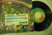 "SMOKEY ROBINSON""SWEET HARMONY- disco 45 giri TAMLA Italy 1973"" NUOVO"