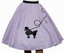 """5-Pieces LAVENDER FELT 50's Poodle Skirt Adult Size XL/3X Length 25"""""""